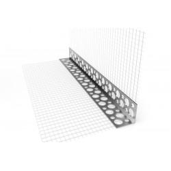 Narożnik perforowany z siatką aluminiowy 3 m